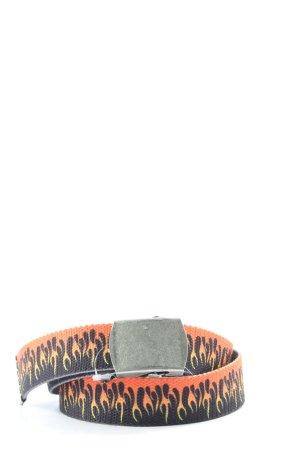 Brandy & Melville Cinturón de tela negro-naranja claro look casual