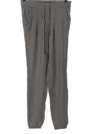 Brandy & Melville Pantalone jersey nero-bianco sporco stampa integrale
