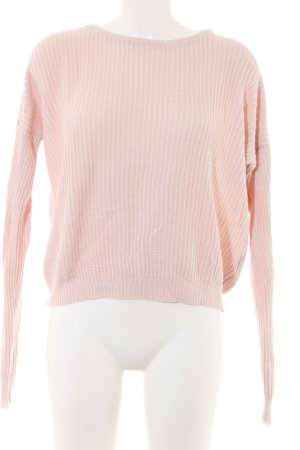 Brandy & Melville Knitted Sweater pink casual look