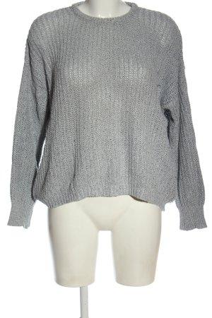 Brandy & Melville Maglione lavorato a maglia grigio chiaro puntinato
