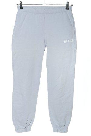 Brandy & Melville Pantalone fitness blu caratteri stampati stile casual