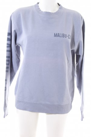 Brandy & Melville Sweat Shirt blue printed lettering casual look