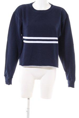 Brandy & Melville Sweat Shirt blue business style