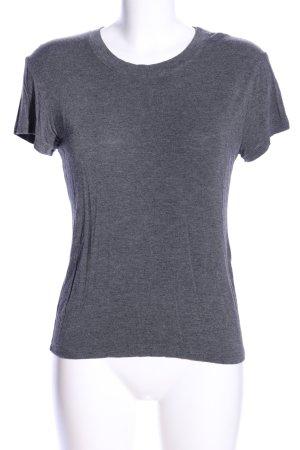 Brandy & Melville T-Shirt hellgrau meliert Casual-Look