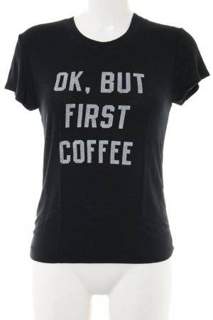 Brandy & Melville T-Shirt black printed lettering casual look