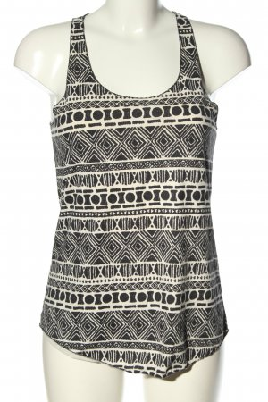 Brandy & Melville Tank Top black-white abstract pattern casual look