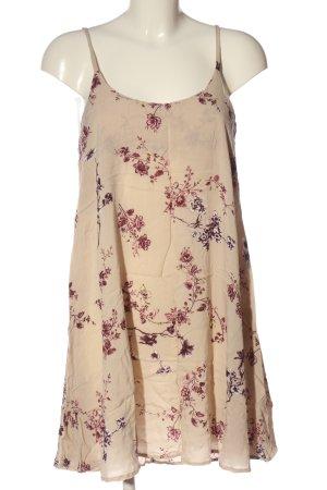 Brandy & Melville Trägerkleid creme-pink abstraktes Muster Casual-Look