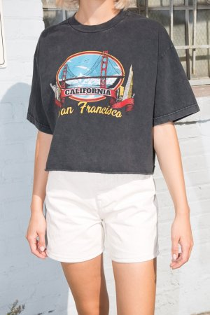 Brandy Melville Tshirt grau San Francisco Vintage