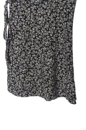 Brandy & Melville Wraparound Skirt black-white allover print casual look