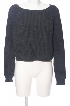 Brandy & Melville Cable Sweater light grey casual look