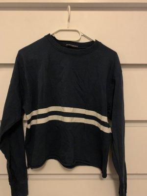 Brandy & Melville Sweat Shirt white-dark blue