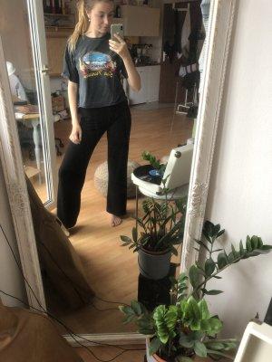 Brandy & Melville Print Shirt anthracite-dark grey