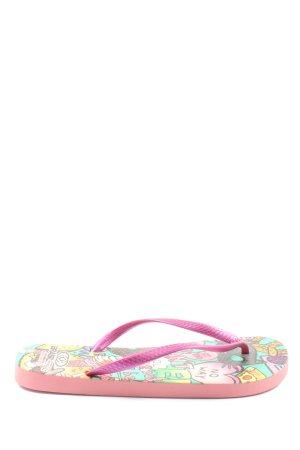 brasileras Flip-Flop Sandals themed print casual look