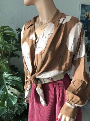 Braun/Beige vintage Bluse von Zara