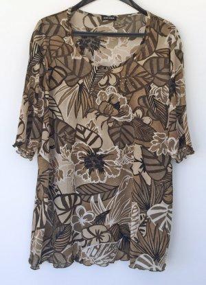 braun beiges T-Shirt von Gerry Weber, Größe 46