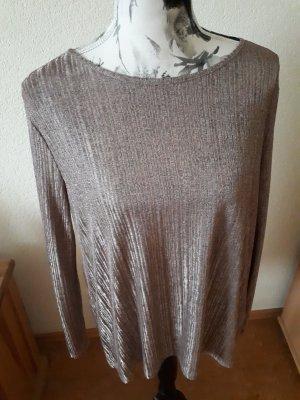 braun-bronzefarbenes Langarmshirt