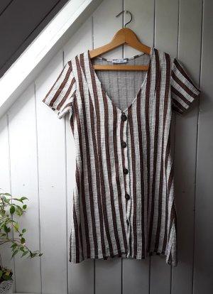 Braun gestreiftes Kleid von Zara