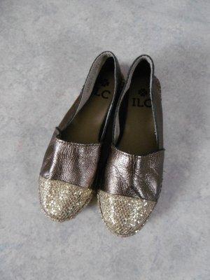 ILC Espadrille sandalen goud-bruin