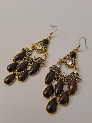 braun goldene orientalische Ohrringe