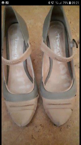 Tamaris Strapped pumps grey-light brown