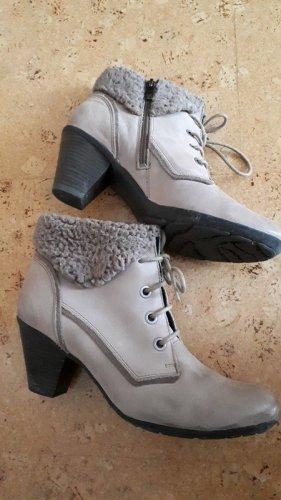 Caprice Zipper Booties grey brown