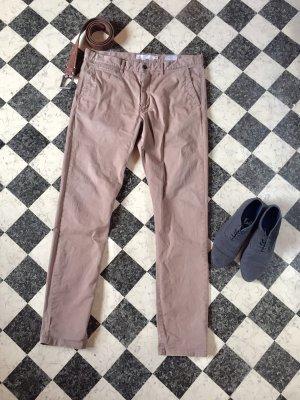 H&M Spodnie z wysokim stanem camel Bawełna