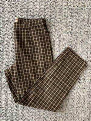 Braun karierte Vintage Hose von Brax Modell Chris