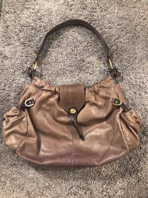 Braun / Lila Hogan echt Leder Tasche