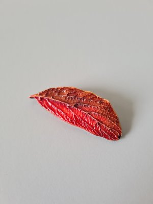 Vintage Broche bruin-rood