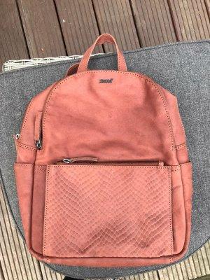 Justified Carrito de mochila bermejo-rojo amarronado