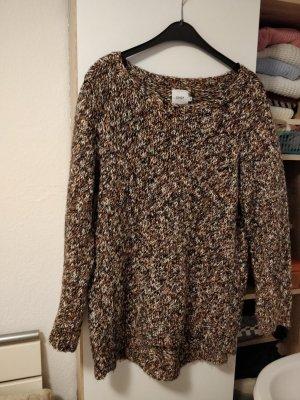 Braun schwarz beige melierter Strick Pullover Gr. M von Only