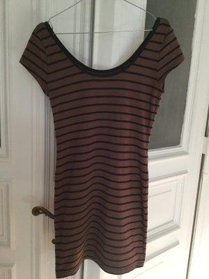 braun-schwarz gestreiftes Kleid