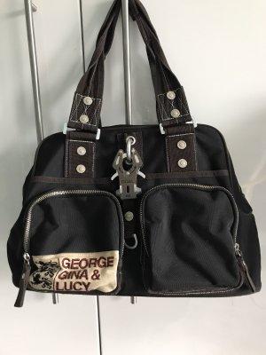 George Gina & Lucy Handtas donkerbruin-zwart