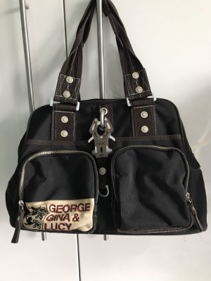George Gina & Lucy Bolso marrón oscuro-negro