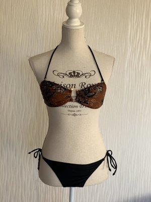 braun-schwarzer Bikini