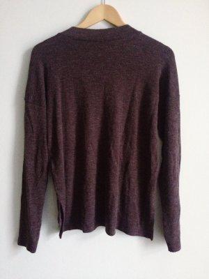 braun-violetter bequemer leichter Pullover