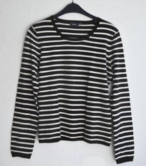 Braun Weiß gestreifter Baumwolle Pullover von MEXX