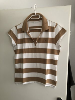 braun weißes Hilfiger Polo Shirt