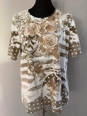 Bexleys T-shirt wit-beige Katoen
