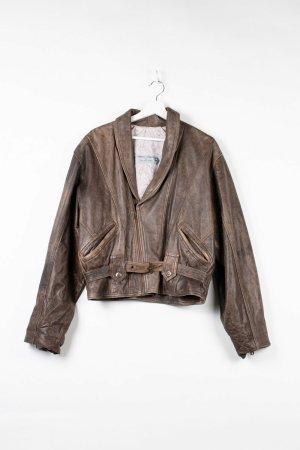 Andrea & Renato Leather Jacket brown