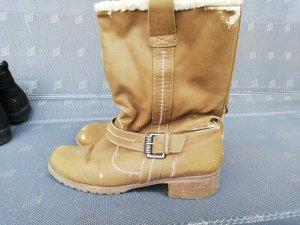 Braune/Beige Stiefel