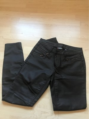 Street One Leather Trousers dark brown