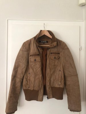 BlendShe Leather Jacket brown-bronze-colored leather