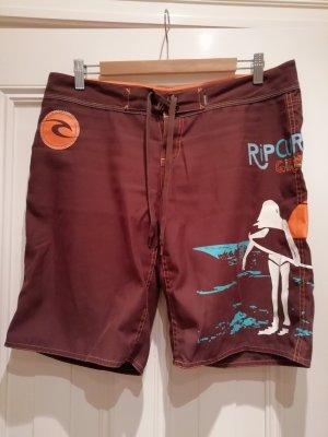 braune Boardshorts Hose von Rip Curl Größe 40