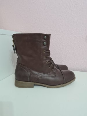 Jepo Lace-up Booties brown-dark brown