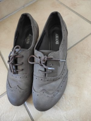 Ariane Wingtip Shoes grey brown-light brown