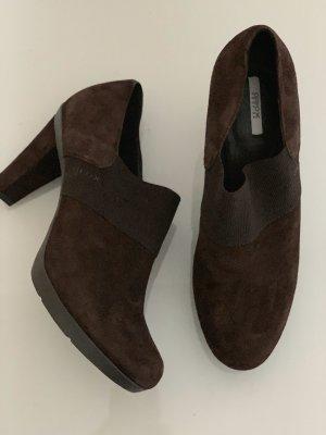 Braune Business Stiefeletten Schuhe von Geox