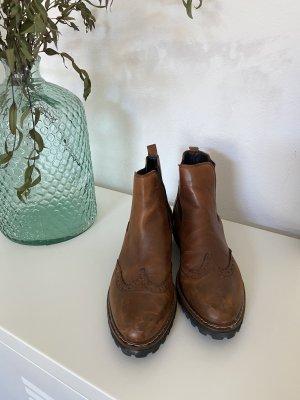 Tamaris Chelsea laarzen zwart-bruin Imitatie leer