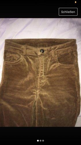 H&M Pantalon en velours côtelé brun