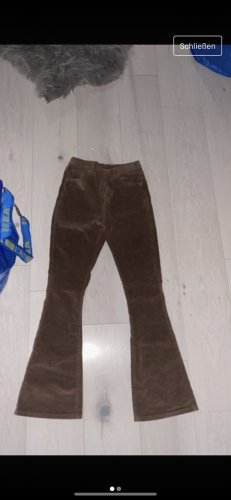 SheIn Jeans a zampa d'elefante marrone